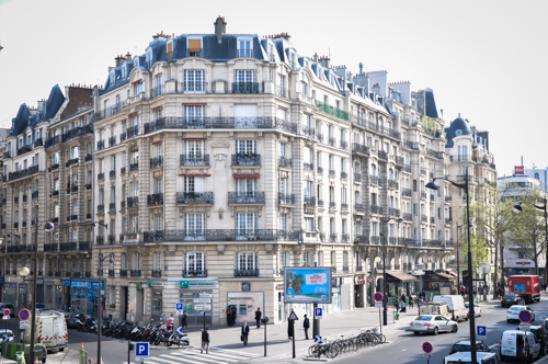 Paris - Typical building in front of Gare De Lyon