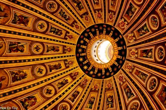 Painting di dalam kubah St Basilica