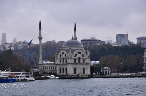 Dolmabahce Mosque. Landmark bosphorus shoreline