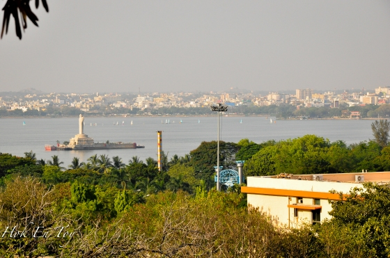 Satu lagi landmark Hyderabad. Hussein lake & Buddha statue. nak pergi sini cadang nya tapi masa tak sempat sebab kami nak tengok laser show kat lumbini park