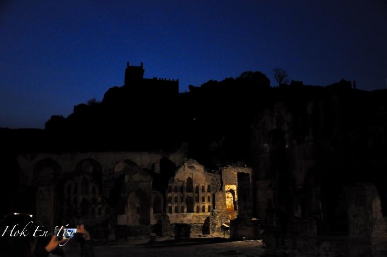 Golconda Fort - view at night